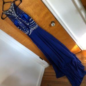 Calvin Klein blue formal dress size 8 prom